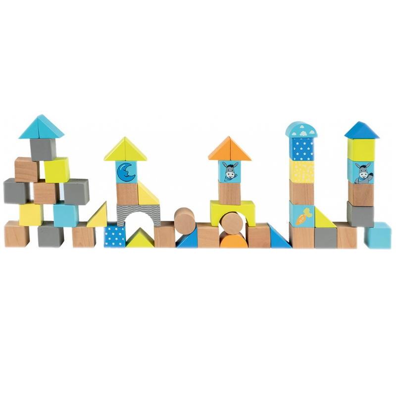Bausteine aus Holz blau