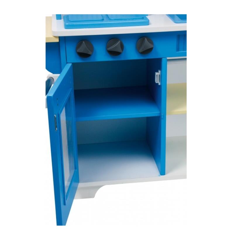 Schank mit Glasfront Spielküche blau