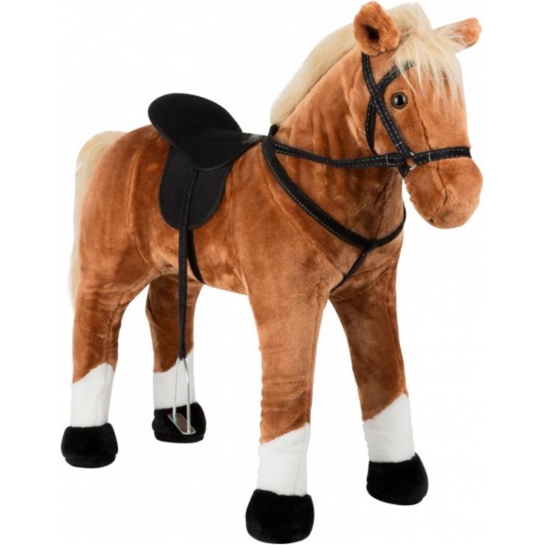 Seitenansicht Pferd mit Geschirr für Kinder