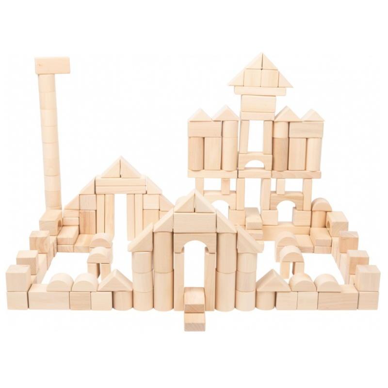 Schloss aus Bausteinen aus Holz