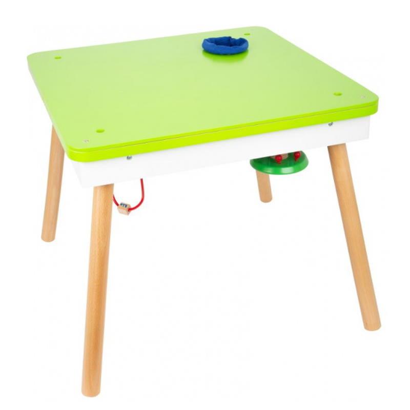 Spieltisch umgedreht als normaler Tisch in grün