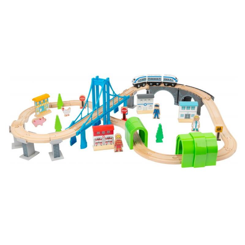 Holzeisenbahn Set aus Holz