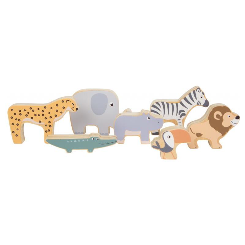 Spielzeug Tiere aus Holz Papagei Löwe Krokodil Zebra Elefant