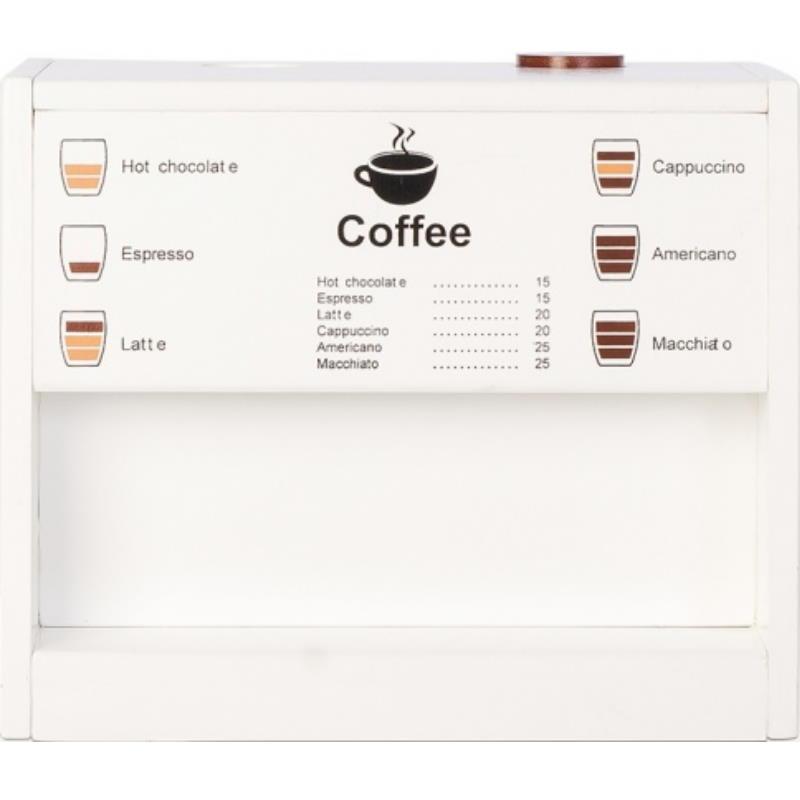 Kaffeeautomat aus Holz zum spielen