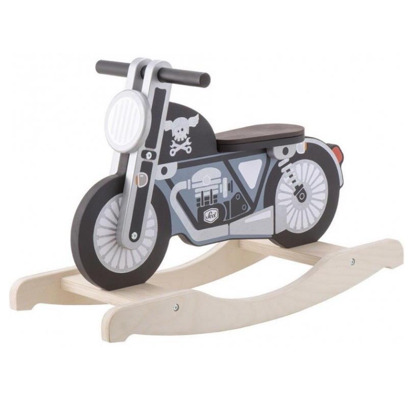 Schaukelmotorrad aus Holz