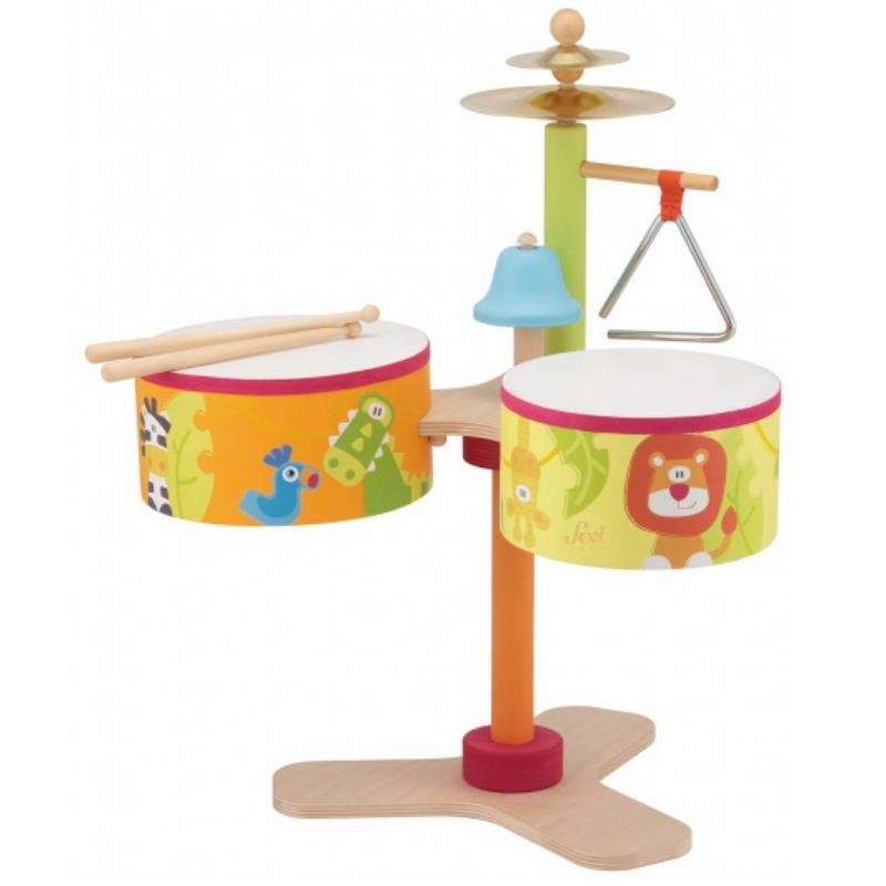 Schlagzeug für Kinder mit Tiermotiven