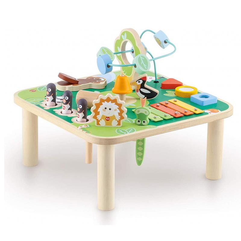 Aktivität und Musiktisch in grün mit vielen Spielmöglichkeiten