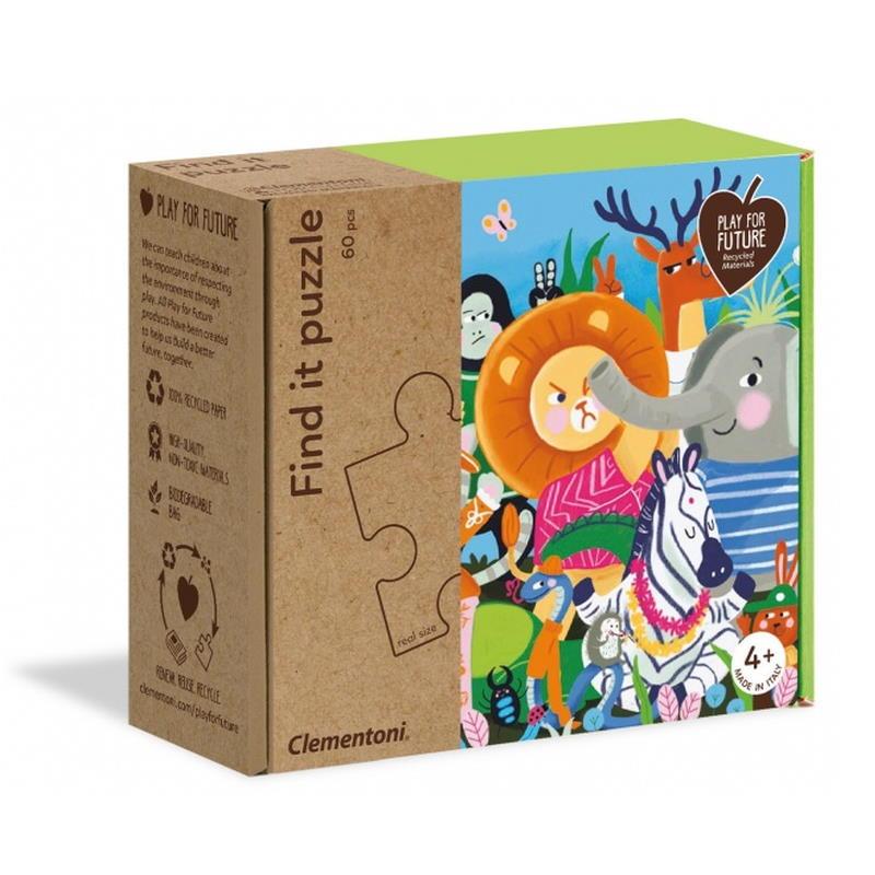 Verpackung von Find it puzzle Zoo Tiere motiv