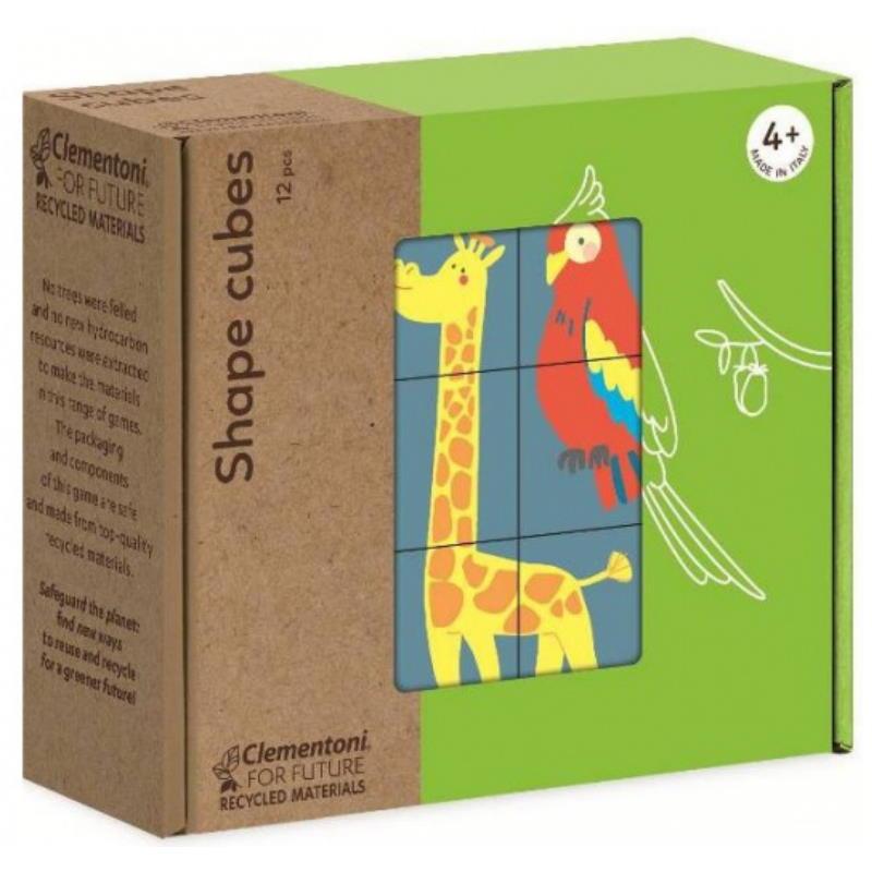 Verpackung vom Würfelpuzzle aus Holz