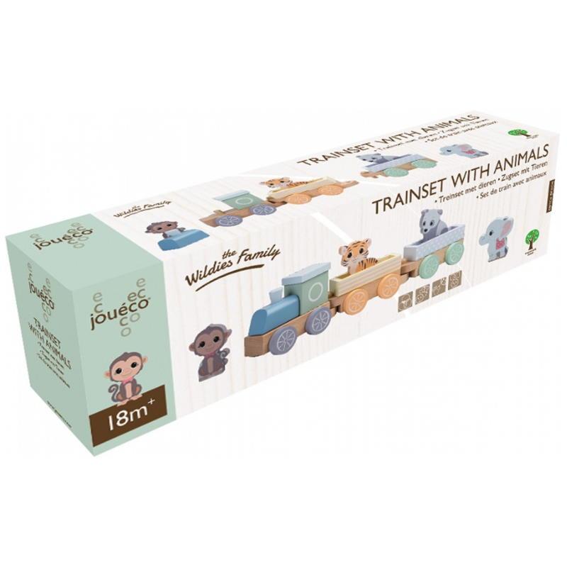 Verpackung von einem Spielzeugzug