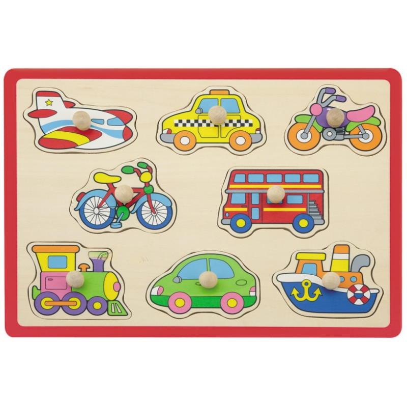 Puzzle Fahrzeuge aus Holz rot